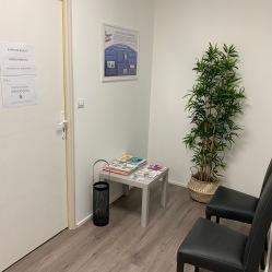Salle d'attente du cabinet d'ostéopathie de Nancy